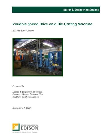 ET10SCE1070 Variable Speed Drive on a Die Casting Machine | ETCC