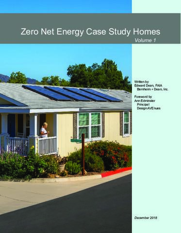 Zero Net Energy Case Study Homes: Volume 1 | ETCC