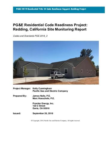 PG&E Residential Code Readiness Project: Redding Home Site